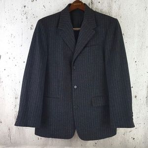 J. Crew Charcoal Gray Wool Pinstripe Sport Coat